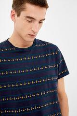 Springfield Camiseta all over étnico azulado