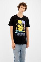 Springfield Camiseta manga corta stormtrooper star wars negro