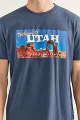 Springfield T-Shirt com estampagem Utah azulado