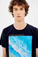 Springfield Camiseta manga corta fotográfico neon azul