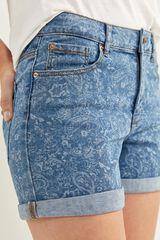 Springfield Pantalón Corto Vaquero Básico azul acero
