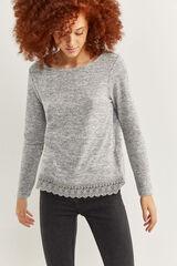Springfield Camiseta faldón lace gris