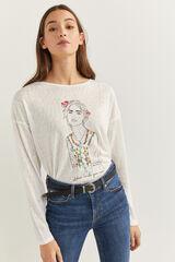 Springfield Camiseta gráfica chica natural