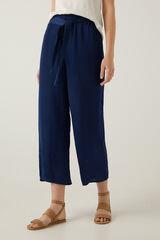Springfield Pantalón fluido culotte azul