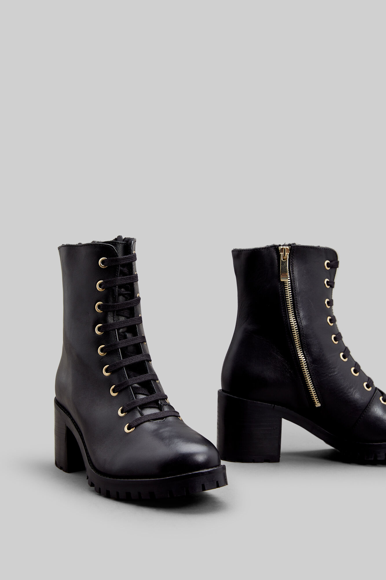 clientes primero super especiales original de costura caliente Botín Cordones Tacón Piel 100% | Zapatos | Fifty