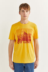 Springfield T-shirt manga curta furgoneta camelo