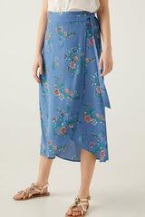 Springfield Falda pareo larga azul royal