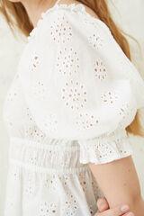 Springfield Blusa bordado suizo blanco