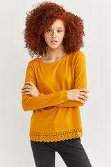 Springfield Camiseta faldón lace beige