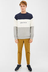 Springfield Chino textures microprint slim fit golden