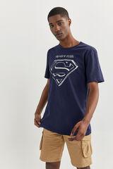 Springfield T-SHIRT DE SUPERMAN azulado
