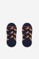 Springfield Calcetín invisible naranjas azulado