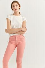 Springfield Pantalón Slim Cropped rosa