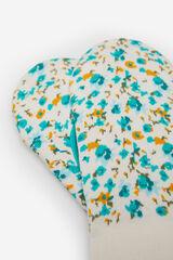 Springfield Calcetín invisible estampado flores azul