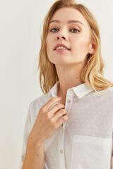 Springfield Camisa Topos Textura natural