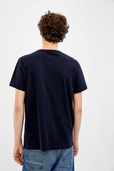 Springfield Camiseta manga corta regular big lebowski azul