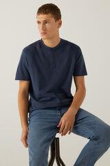 Springfield Camiseta cuello panadero azulado