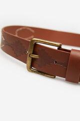 Springfield Cinturón nativo efecto piel marrón
