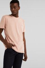 Springfield Camiseta manga corta básica bordado rosa