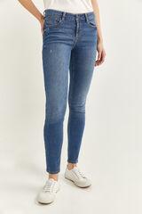 Springfield Jeans Slim Algodón Reciclado azul acero