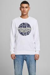 Springfield Sweatshirt logo gola redonda branco