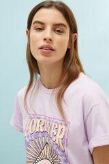 "Springfield Camiseta ""Forever Young"" algodón orgánico morado vivo"