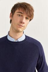 Springfield Jersey cuello redondo estructura azulado