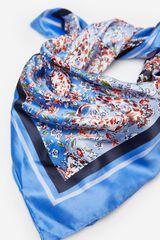 Springfield Lenço de cabeça flores azul