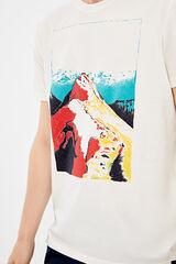Springfield Camiseta manga corta montaña crudo