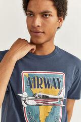 Springfield AIRWAY AEROPLANE PRINT T-SHIRT azulado