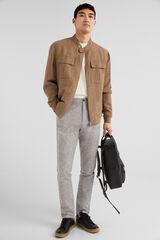 Springfield Cazadora lino/algodón bolsillos marrón
