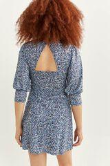 Springfield Vestido espalda abierta azul mezcla