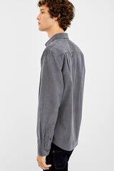 Springfield Camisa micropana lisa gris