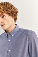 Springfield Camisa slim rayas azulado