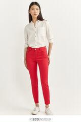 Springfield Pantalones Satén rojo