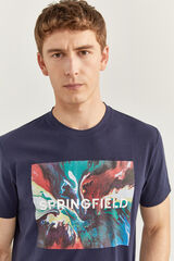 Springfield CAMISETA LOGO SPRINGFIELD azulado