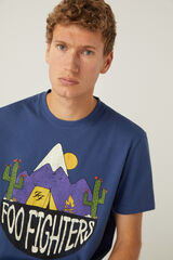 Springfield Camiseta Foo Figthers azul