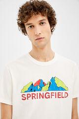 Springfield Camiseta manga corta springfield montaña crudo