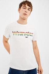 Springfield Camiseta manga corta tee Wrangler blanco