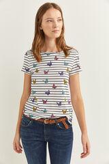 Springfield Camiseta Gráfica blanco