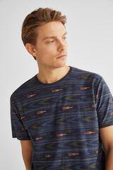 Springfield Camiseta manga corta étnico azul