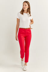 Springfield Pantalón Chino Color rojo
