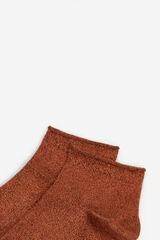 Springfield Calcetín corto lurex marrón