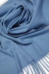 Springfield Bufanda lisa flecos azul
