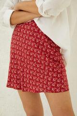 Springfield Falda corta estampada rojo