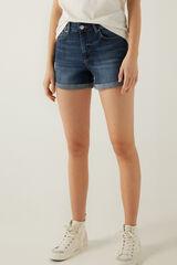 Springfield Calções jeans básicos azul