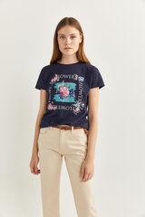 Springfield Camiseta Gráfica Flores azul mezcla