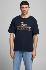 Springfield Camiseta algodón print marino
