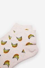 Springfield Calcetín corto frutas rosa