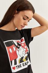 "Springfield Camiseta ""The Earth"" Mickey blanco"